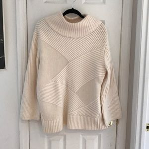 Rag and Bone white Wool Turtleneck Sweater